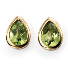 9ct Yellow Gold Peridot Earrings