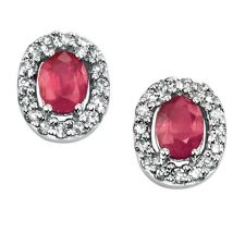 9ct White gold with Ruby and Diamonds