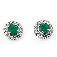 9ct gold with Emerald and Diamonds