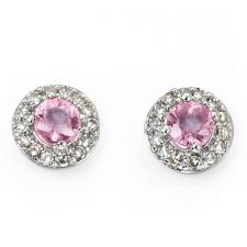 9ct gold with Pink Sapphire and Diamonds